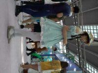 コスプレパンチラ盗撮!ふわふわドレスでパンスト越し純白パンツがよく見える美少女