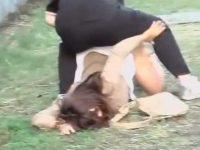 強襲アナルぱっくり!公園でくつろぐギャルを押し倒して痛そうなほどお尻を広げる