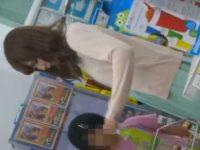 店内パンチラ盗撮!パステルワンピースにキラキラ純白パンツがすてきな清楚系若妻