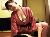 生ハメ風俗旅館盗撮録!宿泊客のおちんちんを擦り中出しセックスをせがむ和服美女