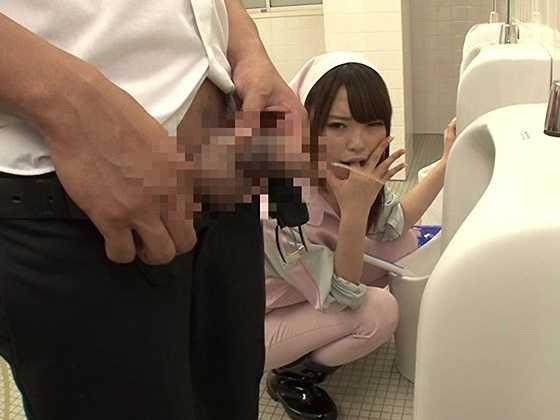 美人トイレ清掃員セルフイラマチオ逆痴●2