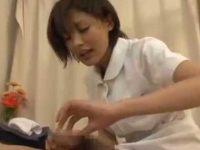 患者の上に乗り腰を振る看護婦!射精したゴムを確認「いっぱい出ましたよ!」小声