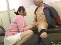 待合室で看護婦に優しくチ〇ポを握られる患者「ドキドキしてますか?」パキパキに勃起