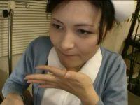 看護婦を病院内で口説く「手じゃだめですか?」言いつつもフェラチオして口内発射