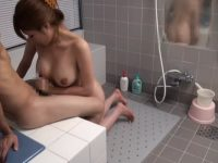 巨乳お義姉さんが風呂で体を洗ってくれるとチ〇ポはビンビン!パイズリフェラで発射
