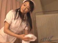 患者の勃起チ〇ポをシコシコ拭いてくれる看護婦「シーッ!」内緒でじゅぶじゅぶ