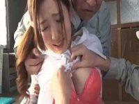 クビにされた腹いせに社長夫人を襲う「デカイおっぱいしやがって!」乳首ペロリ