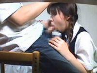 家庭教師に素直に従う女の子!ローターで感じてしまい小さいお口で慣れないフェラチオ